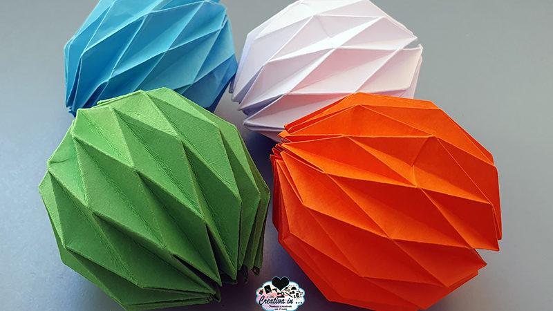 Come fare la sfera origami. Idee per personalizzare ed usare la decorazione natalizia