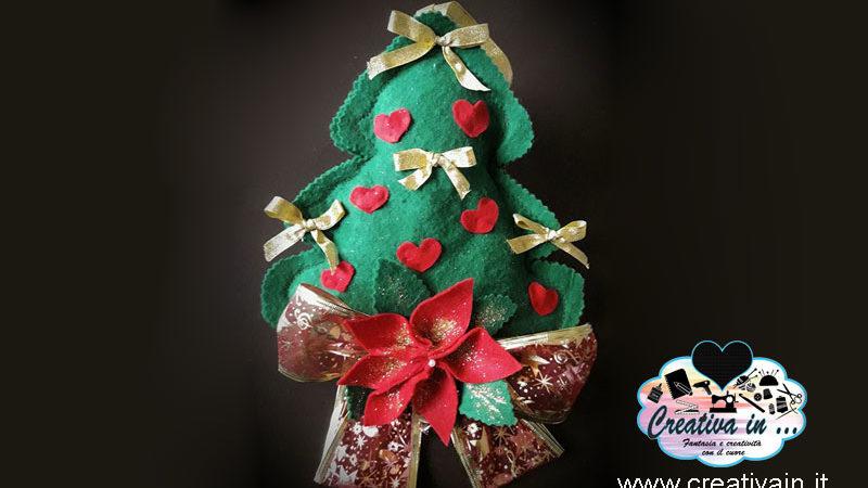 Albero di Natale in pannolenci o feltro. Il tutorial