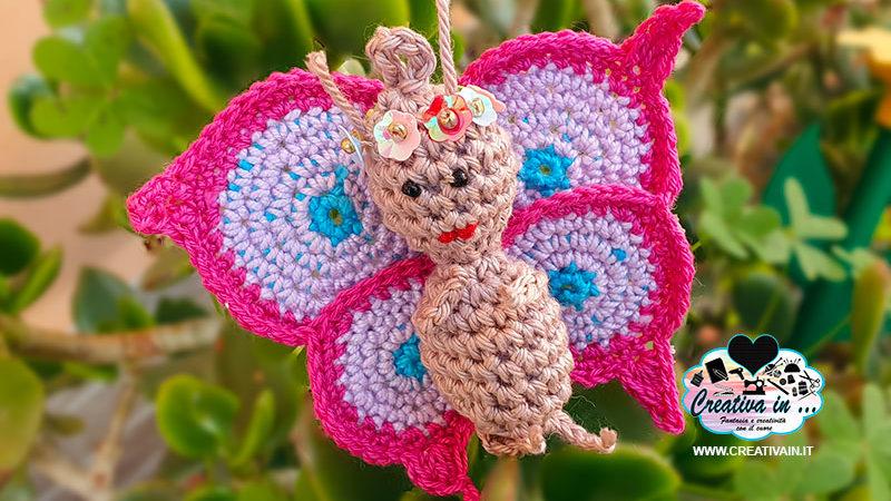 Farfalla amigurumi. Schema gratuito e spiegazione