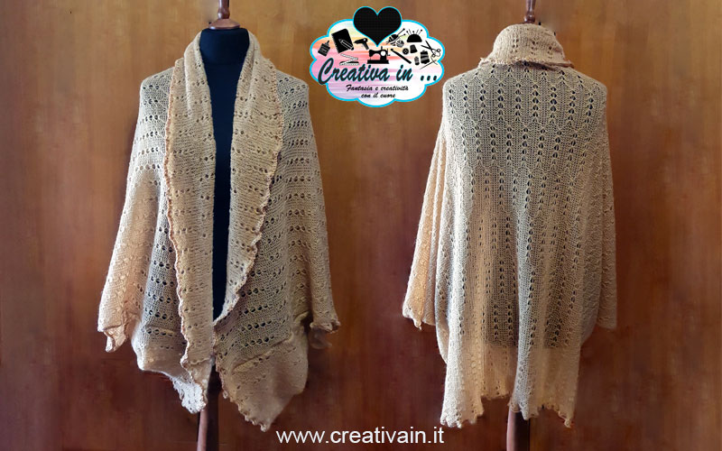 Giacca cardigan in lana. Cartamodello, schema e tutorial