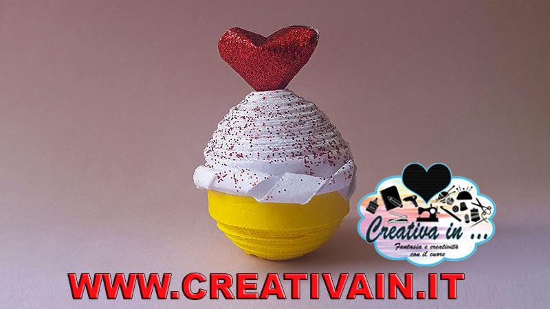 Cupcake quilling 3D. Tutorial gratuito