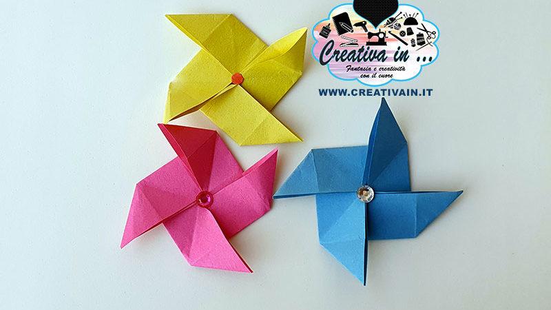 Come fare una girandola origami. Tutorial gratuito