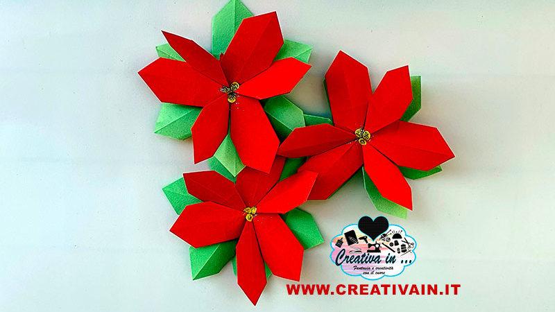 Come fare una stella di Natale origami. Videotutorial