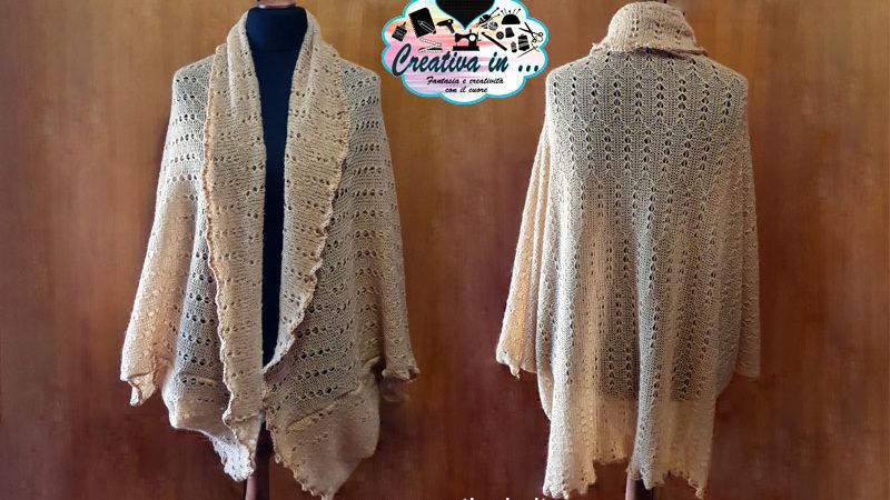 Giacca cardigan in lana. Cartamodello, schema e tutorial