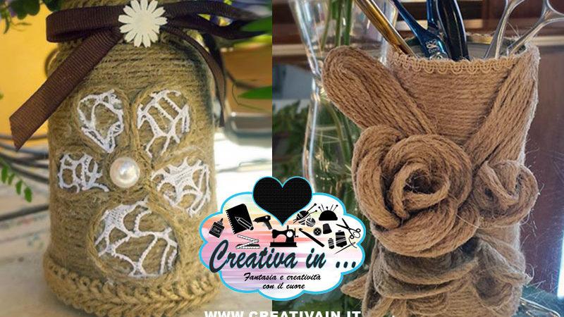Come decorare barattoli con la corda o altri filati