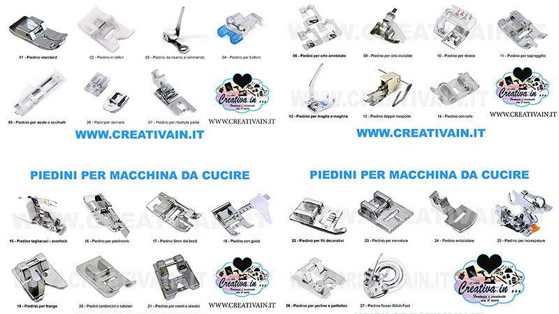 Piedini per macchina da cucire: come riconoscerli e uso