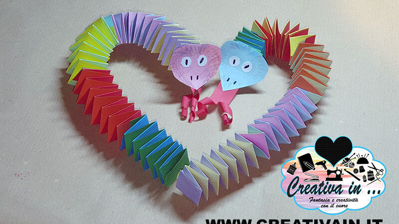 Come fare un serpente di carta origami. Videotutorial