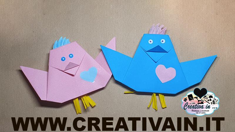 Come fare un uccellino origami. Videotutorial