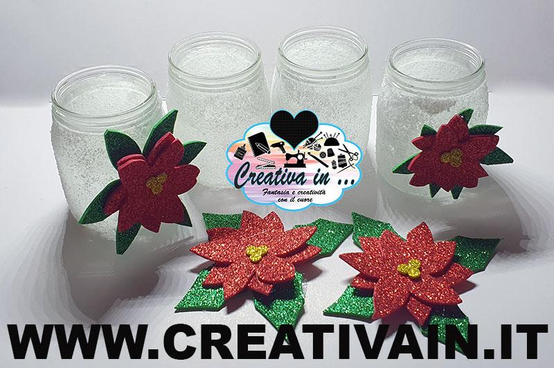 Barattoli di vetro decorati con sale. Tutorial