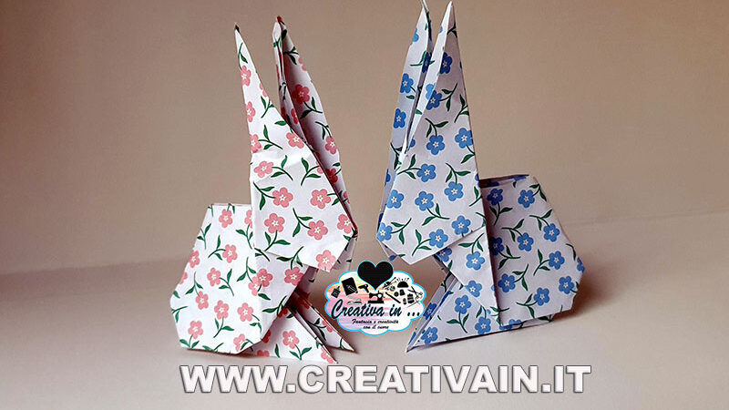 Coniglio origami fai da te. Video tutorial gratuito