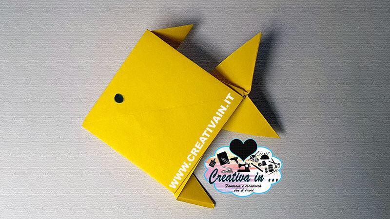 Come fare un pesce origami. Videotutorial gratuito