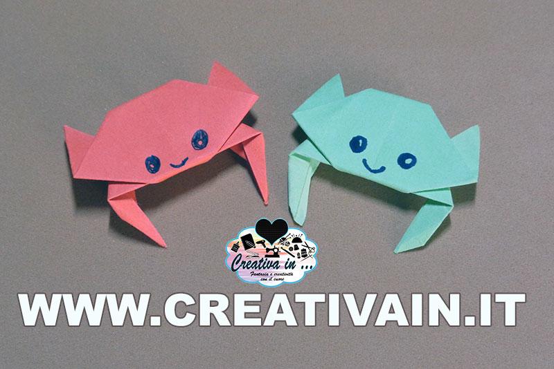 Come fare un granchio origami. Video-tutorial gratuito