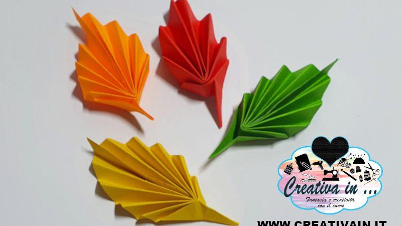 Come fare una semplice foglia origami. Video-tutorial